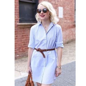 Madewell Blue Stripe Button Front Tunic Shirt XS